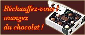 Réchauffez-vous! mangez du chocolat !